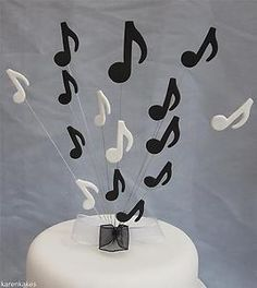 MUSICAL NOTES BIRTHDAY CAKE TOPPER ANY COLOURS | eBay
