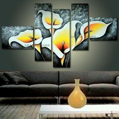 this but ocean ---Hand Painted Oil Painting Murals of Modern Living Room Mural Bedroom Decorative Living Room Murals, Wall Murals, Living Room Decor, Dining Room, Tableau 5 Parties, Canvas Wall Art, Painting Canvas, House Painting, Painting Inspiration