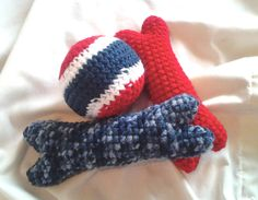 Dog Toy Combo Pack by SweetlyScrambled on Etsy https://www.etsy.com/listing/103635236/dog-toy-combo-pack