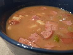 Bean Soup with Sausage ~ South Beach Phase 1