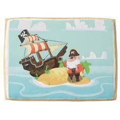 Skull and crossbones cartoon pirate