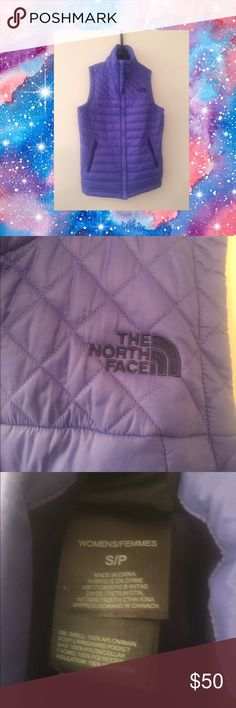 Purple North Face Vest NWT Lightly insulated puffer vest perfect for fall weather! North Face Jackets & Coats Vests