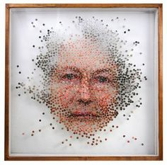 New York based artist Michael Mapes is interested in creative science. He dissects photographs of people he has come across in his life. He creates his artworks by using various materials which resemble the equipment used to document specimens such as insect pins, pinning foam, glass vials and magnifiers. His installations are made up of thousands of individual specimens consisting of genetic information about the subject.
