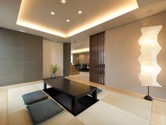 Japanese Modern, Japanese House, Japanese Furniture, Indirect Lighting, Pinterest Home, Modern House Design, Furniture Design, Living Room, Table