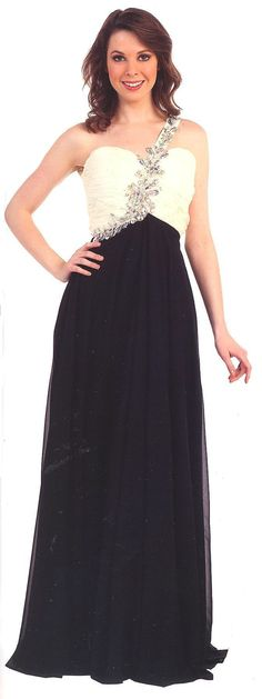 Prom Dresses Evening Dresses under $200<BR>1345<BR>One shoulder ruched bodice with beads and stones on strap reaching around waist
