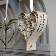 handmade personalised heart decoration by re:made | notonthehighstreet.com
