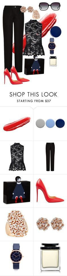 """Untitled #57"" by tammy-stacey ❤ liked on Polyvore featuring Yves Saint Laurent, Burberry, Ganni, Acne Studios, Lulu Guinness, Christian Louboutin, Suzanne Kalan, Marc Jacobs and Bulgari"