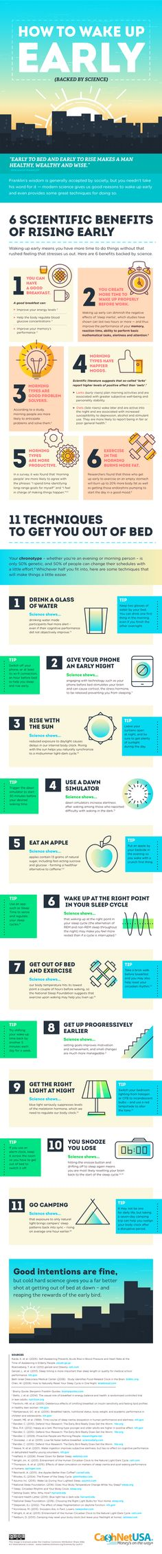 How to Wake Up Early #infographic #HowTo #Health #Stress