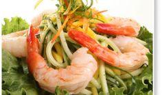 Cucumber, Mango and Wild Shrimp Salad / Shrimp / Seafood / Recipes / Home - Florida Department of Agriculture & Consumer Services Citrus Recipes, Cucumber Recipes, Spring Recipes, Side Recipes, Light Recipes, Lunch Recipes, Cooking Recipes, Healthy Recipes, Shrimp Salad Recipes