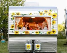 Sisters On The Fly-makes me want to buy a vintage camper and join them.