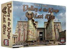 Valley of the Kings Last Rites – Alderac Entertainment Group Demo hosted by Game Creator Tom Cleaver  In this new version of Valley of the Kings, you must hire artisans, builders, and priests to prepare your tomb for the afterlife. The game still uses the innovative crumbling pyramid, as well as the same game mechanics as Valley of the Kings and Valley of the Kings: Afterlife. The goal is still to get the most valuable items into your tomb before the clock of your life runs out.