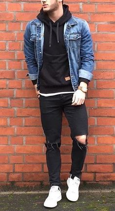 Discover men's jeans from ASOS. Trendy Mens Fashion, Mens Fashion Wear, Stylish Mens Outfits, Fashion Outfits, Casual Outfits For Guys, Men's Fashion Tips, Urban Fashion Girls, Male Outfits, Swag Fashion