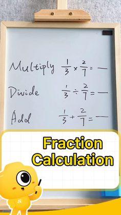 Math Strategies, Math Resources, Math Activities, Math Tips, Life Hacks For School, School Study Tips, Math For Kids, Fun Math, Math Fractions
