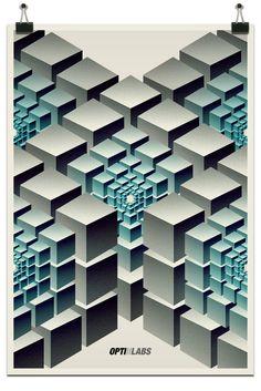 OPTILABS 2012 // Cubes by Riccardo Sabatini, via Behance