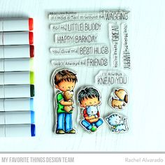 Stamps: BB Little Buddies Die-namics: Little Buddies  Rachel Alvarado #mftstamps
