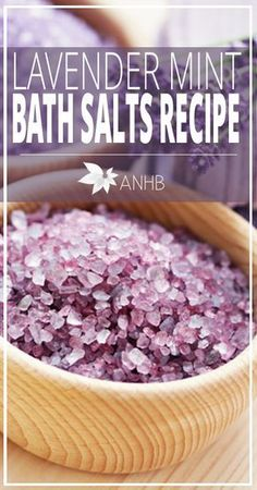 Lavender Mint Bath Salts Recipe - All Natural Home and Beauty Make your own lavender mint bath salts with this easy recipe. Combine the benefits of magnesium and sea salts with essential oils for a relaxing bath! Bath Recipes, No Salt Recipes, Detox Recipes, Bath Salts Recipe, Homemade Bath Salts, Salt Scrub Recipe, Homemade Gifts, Beauty Care, Beauty Hacks
