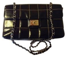 Chanel Calfskin Square Contrast Quilt Leather Classic Chocolate Bar 2.55 Flap Medium Large Gold Hardware Chain Cc Logo Black Cross Body Bag. Get the trendiest Cross Body Bag of the season! The Chanel Calfskin Square Contrast Quilt Leather Classic Chocolate Bar 2.55 Flap Medium Large Gold Hardware Chain Cc Logo Black Cross Body Bag is a top 10 member favorite on Tradesy. Save on yours before they are sold out!
