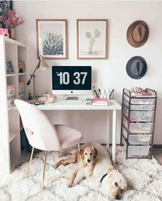Take a look at the hottest trends in home office design and decor. Get inspired by the choice of colors and minimalist layout of these home offices. Home Office Space, Home Office Design, Home Office Decor, Diy Home Decor, Office In Bedroom Ideas, Office Ideas, Bedroom Desk, Room Decor Bedroom, Target Bedroom