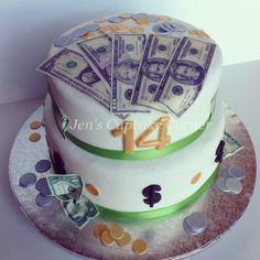 Money Cake Happy Birthday Cakes Sweet 16 13th