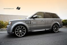 #RangeRover Sport on #Vossen CV1 22-Inch Wheels
