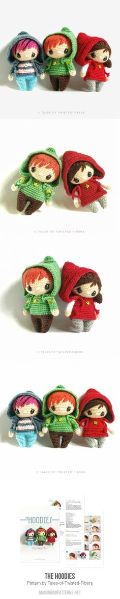 The Hoodies amigurumi pattern by Tales of Twisted Fibers