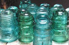 antique glass insulators