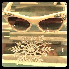 White jeweled Prada sunglasses ☀️☀️☀️☀️ Authentic Prada sunglasses. Never worn. No case. No scratches. Serial number on lenses reads bp26232905. No trades. Offers welcome. Prada Accessories Sunglasses