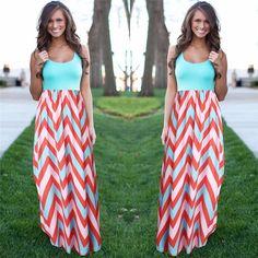 Mulheres Praia Boho Maxi Vestido de Verão 2016 de Alta Qualidade Da Marca Listrado Impressão Vestidos Longos Feminino Plus Size