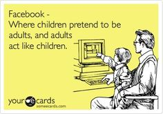 But the points is, should children even be on Facebook?