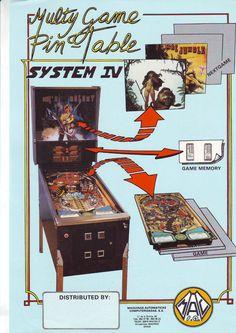 MAC MAC'S GALAXY ORIGINAL SPANISH FLIPPER PINBALL MACHINE FLYER BROCHURE 1986  #pinballart #scifipinball #pinballflyer #spaceagepinball