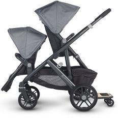 UppaBaby Vista stroller. Accommodates two kids, whether both babies, both toddlers or one of each. Also compatible with a few different car seats.