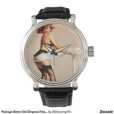 Vintage Retro Gil Elvgren Fitness Pinup Girl Wrist Watches