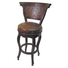 Have to have it. Colonial Spanish Heritage Round Bar Stool with Back and Swivel $1011.99