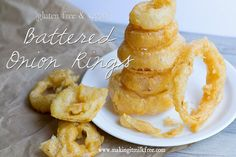 Leave out paprika and black pepper and these are AIP. Battered Onion Rings by Making it Milk-free