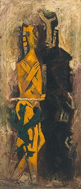 Summer Art Auction (19-20 June): Maqbool Fida Husain, Abhisarika, 1965