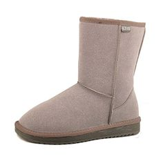 GTIME Womens Classic Sheepskin Half Snow Boots Gray US 75 >>> To view further for this item, visit the image link.