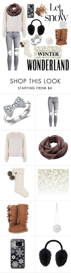 """Winter Wonderland ❤"" by ariiikmk ❤ liked on Polyvore featuring AMIRI, Burberry, UGG, Betsey Johnson, Samsung, Steve Madden and Maybelline"