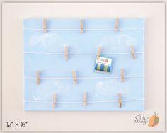 Kids Room Organizer Bulletin Board Sky Blue Room by ChicMango