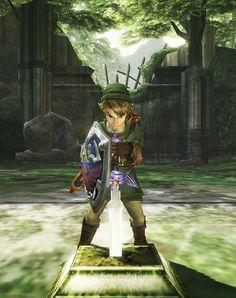 Zelda Twilight Princess - Link & the Master Sword #GCN #Wii #WiiU