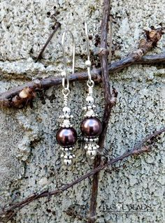 Swarovski pearl earrings- sterling earrings-crystal pearl earrings-bridesmaids jewelry-wedding jewelry-pearl earrings - dangle-swarovski