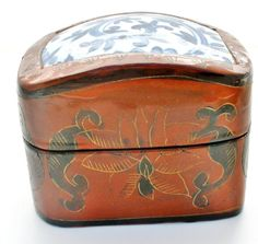Trinket Box Chinese Lacquer Shard by TheJewelryLadysStore on Etsy
