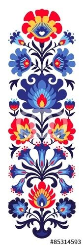 Vector: Polish folk flowers papercut