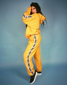 THICK! Elastic Band Hoodie and Sweatpants (Mustard Set) | The Kylie Jenner Shop