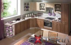 Veľká kuchynská linka Tanya situovaná do rohu v príjemných farbách, ktoré si môžete nakombinovať z mnohých odtieňov. http://www.mt-nabytok.sk/rohova-sektorova-kuchynska-linka-tanya/