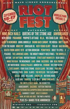 The Riot Fest Line-up including Dead Cross