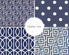 Blue prints for a nautical-inspired wedding table runner!