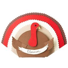 Let little ones help decorate this #Thanksgiving with these crafty turkey place cards. Get the pattern here: http://www.bhg.com/thanksgiving/indoor-decorating/easy-to-make-place-cards-for-a-thanksgiving-table/?socsrc=bhgpin110612turkeyplacecard#page=33