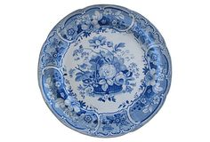 Mason's Flower Basket Plate, C. 1820 on OneKingsLane.com