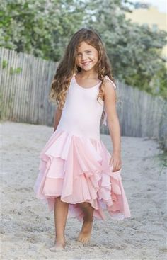 Pixie Girl Pirouette Dress in Pink Preorder 2T to 12 Years