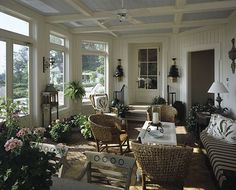 porch in Connecticut countryside ~ Bunny Williams design